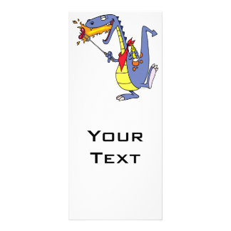 desenhos animados engraçados do dragão dos cachorr 10.16 x 22.86cm panfleto