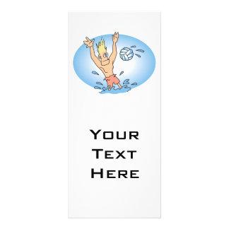 desenhos animados engraçados do gajo do waterpolo panfleto personalizado
