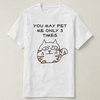 Desenhos animados engraçados do gato camiseta