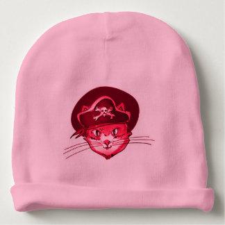 desenhos animados engraçados do gato do pirata gorro para bebê