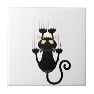 Desenhos animados engraçados do gato preto que