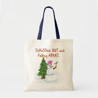 Desenhos animados engraçados do Natal do boneco de Bolsa