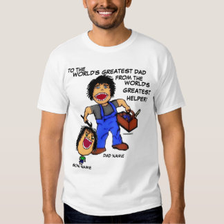 Desenhos animados engraçados do pai e do filho t-shirts