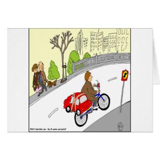 desenhos animados espertos da cremalheira da cartão comemorativo