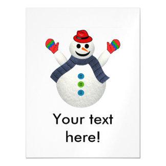 Desenhos animados felizes do boneco de neve