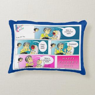 Desenhos animados felizes do dia dos pais almofada decorativa