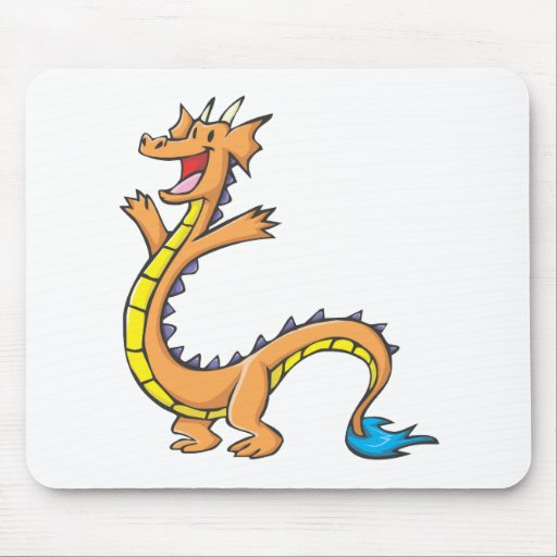 Desenhos animados felizes do dragão mousepad