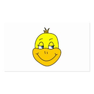 Desenhos animados felizes do pato cartões de visita