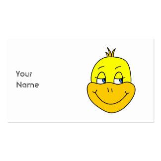 Desenhos animados felizes do pato modelo cartoes de visitas
