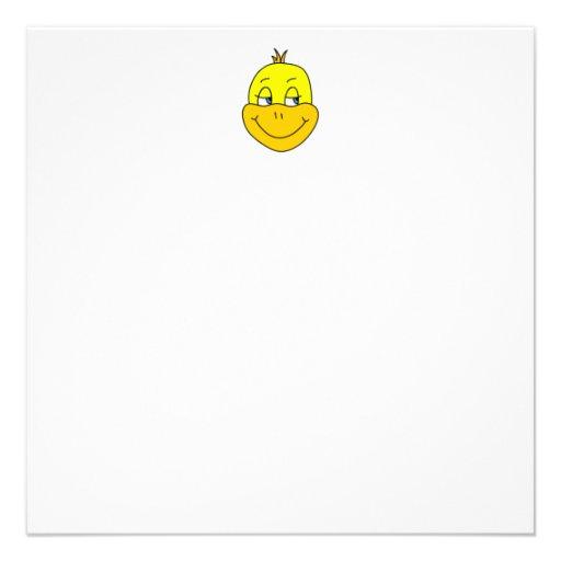 Desenhos animados felizes do pato convite