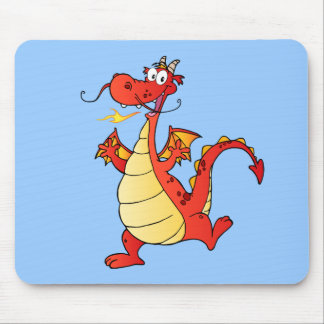 Desenhos animados felizes engraçados do desenho da mouse pad