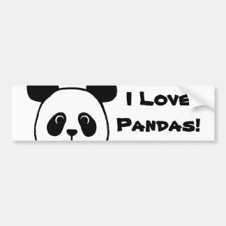 Desenhos animados grandes da panda da cara adesivo para carro