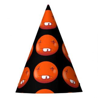 desenhos animados handdrawn engraçados do smiley chapéu de festa