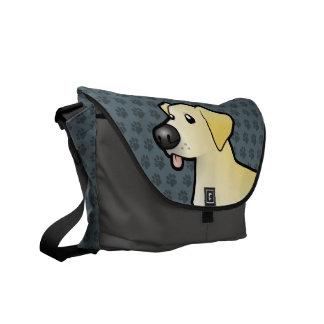 Desenhos animados labrador retriever bolsa mensageiro