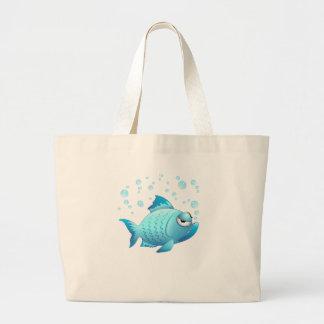 Desenhos animados mal-humorados dos peixes bolsas