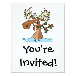 desenhos animados parvos engraçados dos alces do convite personalizado