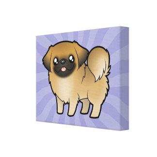 Desenhos animados Pekeingese (filhote de cachorro  Impressão De Canvas Envolvida