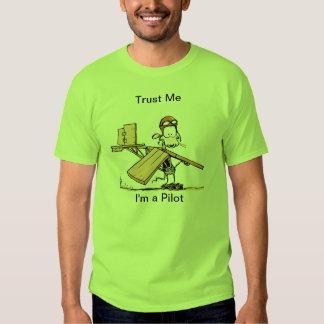 Desenhos animados piloto engraçados tshirt