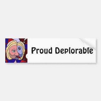 Desenhos animados políticos deploráveis orgulhosos adesivo para carro