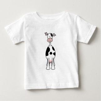 Desenhos animados preto e branco da vaca. Parte Tshirts