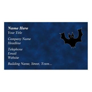 Desenhos animados pretos do bastão cartao de visita