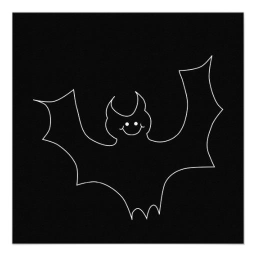 Desenhos animados pretos do bastão convites personalizados