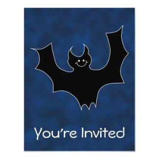 Desenhos animados pretos do bastão, no céu de convite 10.79 x 13.97cm