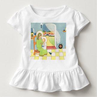 Desenhos animados retros, Mary com bebê Jesus Camiseta Infantil