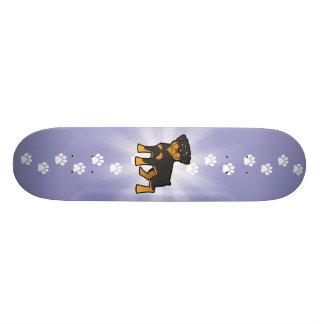 Desenhos animados Rottweiler Skate