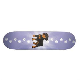 Desenhos animados Rottweiler Shape De Skate 20,6cm