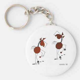 Desenhos animados Running do cavalo Chaveiro