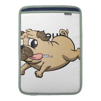 desenhos animados running do pug bolsas de MacBook air