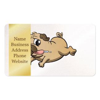 desenhos animados running do pug cartão de visita