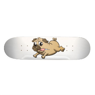 desenhos animados running do pug shape de skate 18,4cm