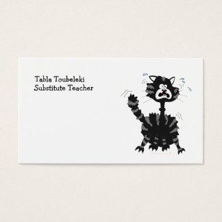 Desenhos animados Scared engraçados o Dia das Cartão De Visitas