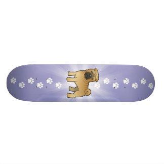 Desenhos animados Shar Pei Shape De Skate 18,7cm