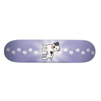 Desenhos animados Staffordshire bull terrier Skateboard