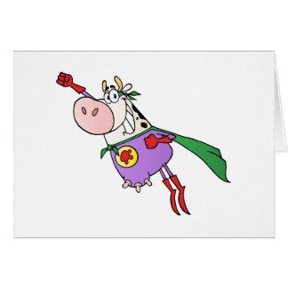 Desenhos animados super da vaca cartão comemorativo