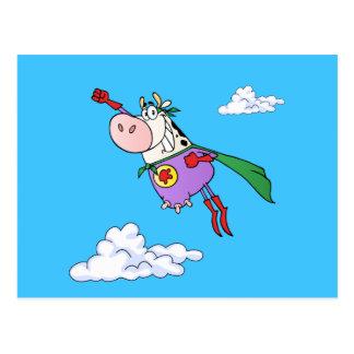 Desenhos animados super da vaca cartão postal