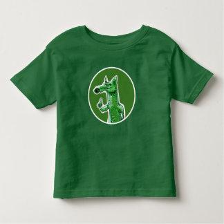 desenhos animados verdes do doce da raposa camiseta infantil