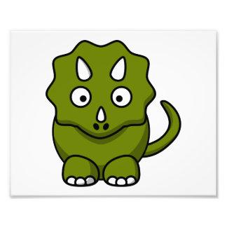 Desenhos animados verdes do Triceratops Artes De Fotos