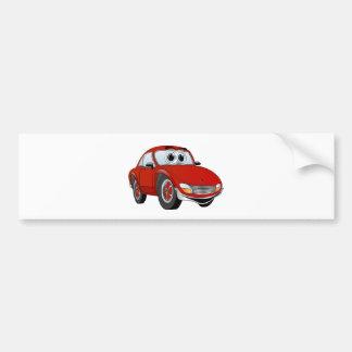 Desenhos animados vermelhos do carro de esportes adesivo para carro