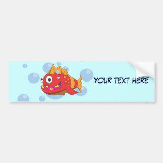 Desenhos animados vermelhos dos peixes adesivo para carro