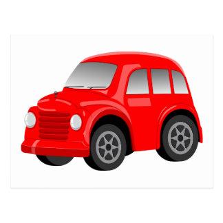 Desenhos animados vermelhos retros/carro vintage cartão postal