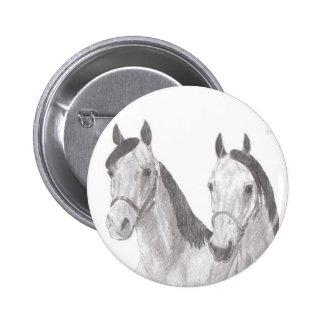 Desenhos bonitos do cavalo das éguas bóton redondo 5.08cm