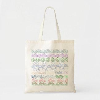 Desenhos infanteis do divertimento da paz, amor, n bolsas para compras