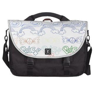 Desenhos infanteis do divertimento da paz, amor, n maletas para laptop