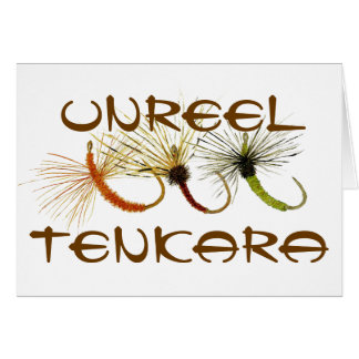 Desenrole o cartão de cumprimentos de Tenkara