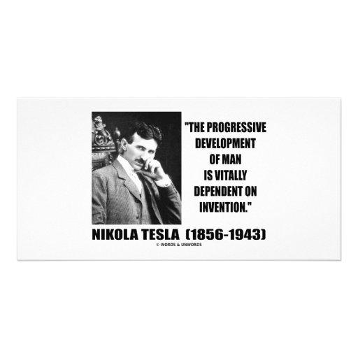 Desenvolvimento progressivo de Nikola Tesla de cit Cartao Com Fotos