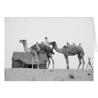 Deserto de B&W Dubai Cartão Comemorativo